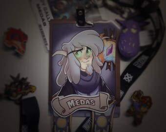 Laminated Character Convention Badges (Art + Physical Badge!)