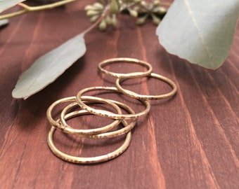 Stackable Rings - Copper or Brass