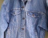 Vtg Levis Jean Jacket Stonewashed size medium