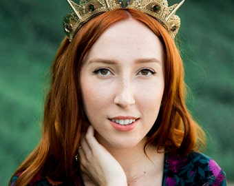 Gemstone Filigree Spike Tiara - by Loschy Designs