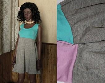 EID 64-68cm BJD Colorblock Babydoll Sleeveless Dress