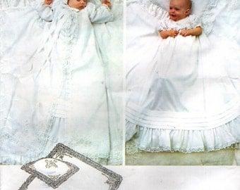 Vogue 2878 LITTLE VOGUE CHRISTENING Infant Dress, Coat, Bonnet, Pillow Sham and Blanket