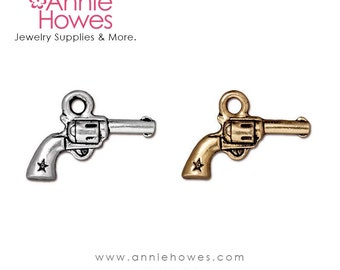 Six Shooter Gun Charm For Your Charm Bracelet. Cowgirl Western Theme Charm.