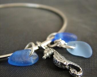Sea Glass Bracelet  /  sea glass jewelry  /  beach glass bracelet / seaglass jewelry / beach glass jewelry / ocean bracelet / sterling