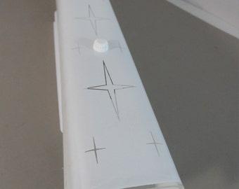 "Mid Century Vanity Four Light Fixture Vanity Light Bar 24"" Starcross pattern"