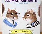 2017 Wall Calendar - Animal Portraits by Ryan Berkley Illustration