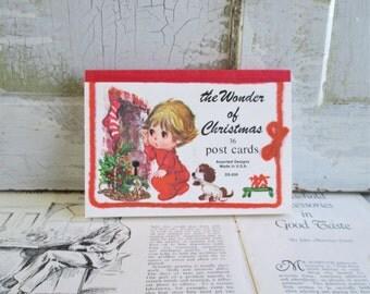 36 Vintage Unused Christmas Post Cards - The Wonders of Christmas