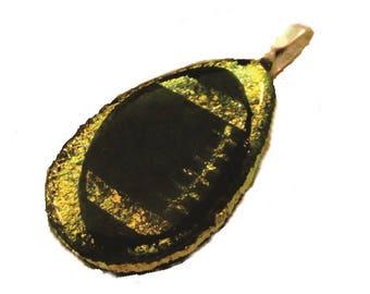 Football Necklace Pendant, Football Necklace Pendant, Football Jewelry, Football Gift, Gold, Team Sports, Football Mom