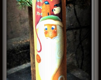 Primitive Wood Santa Rolling Pin-Kitchen Home Decor Decoration