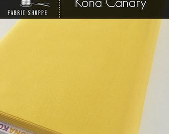 Kona cotton solid quilt fabric, Kona CANARY 26, Kona fabric, Solid fabric Yardage, Kaufman, Yellow fabric, Choose the cut