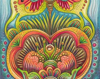 "Autumnal Dance - 8 x 10"" Art Print"