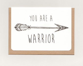 YOU are a WARRIOR . mini print . art card . greeting card . affirmation inspiration . boho gypsy hippie wanderer tribal hippy . australia