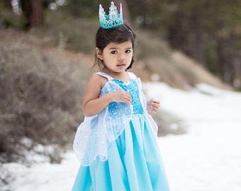 Elsa dress, princess  dress, Frozen dress, Anna dress, summer princess dress, vacation princess dress, comfortable princess dress