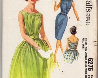 Vintage Sewing Pattern McCall's 6276 Misses' Dress 1960's 34 Bust - With FREE Pattern Grading E-Book Included