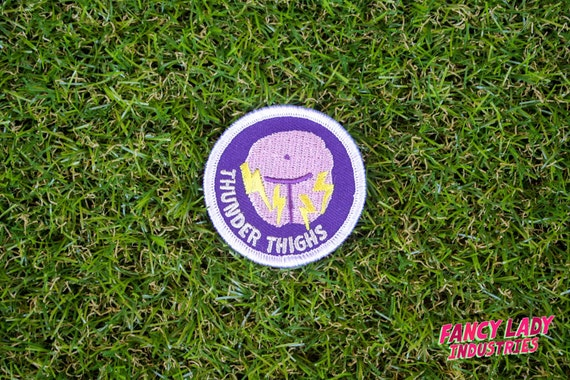 Thunder Thighs - Girth Guides patch for fat activists