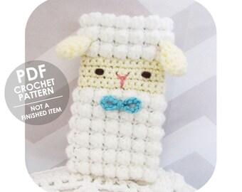 crochet pattern - crochet phone sleeve pattern - phone cozy - sheep lamb - cute animal - crochet phone cozy pattern - sheep phone case