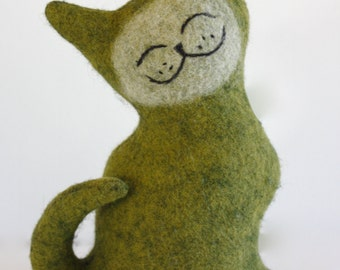 Envy Cat - Wool Plush