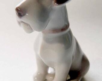 SALE Vintage B&G Bing and Grondahl Seated Terrier Scottie Dog Figurine Studded Collar Fine Danish Porcelain Puppy  2179 Copenhagen Denmark