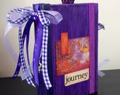 Purple Lover's Altered Hardcover Book Junk Journal Bullet Journal Gratitude Journal
