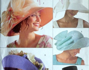 Butterick 4472 Sewing Pattern, Misses' Hats, Sizes Small-Medium-Large, Uncut FF,