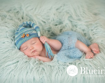 Baby Hat, Photo Prop Baby Boy Hat, Knit Baby Hat, Stocking Hat, Sea Star