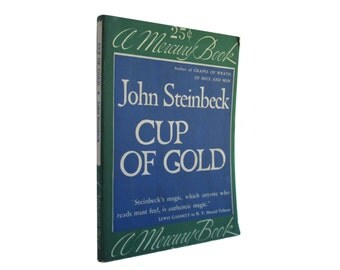 Cup of Gold - vintage 1939 John Steinbeck paperback published by Mercury - Free US Shipping