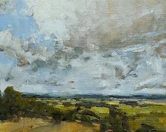 Heavy Skies | Oil Painting | 8 x 10