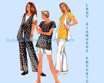 Simplicity 8984 Womens 2 Hour Pants Shorts Vest Tops 6-8 10-12 14-16 Vintage Petite to Plus Size Summer Sewing Pattern Uncut FF #435