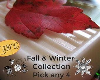 Fall Winter Collection  Pick 4 | Farm House Butter Soap | 11 butters and oils | Shea Butter, Cocoa Butter, Argan Oil, Avocado, Mango,