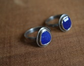 Lapis Lazuli Oxidized Sterling Silver Ring Made to Order