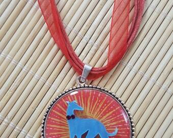 Sunshine Greyhound or Whippet Necklace