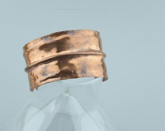 Rustic Copper Cuff Bracelet - Statement Bracelet - Copper Bracelet