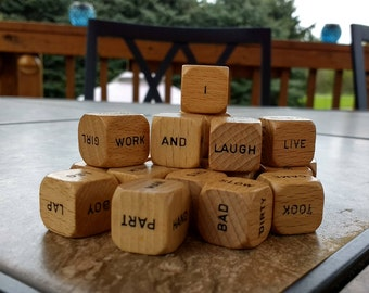 Word Dice,Scrabble Cubes,Spell it,Game Parts,Scrabble Dice