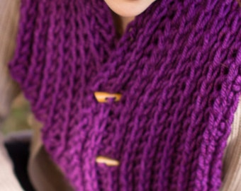 Purple Winter Cowl