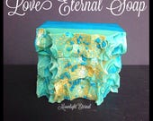 Handmade Soap - Fruity Floral Soap - Love Eternal Artisan Soap - Endless Love - Silk Soap - Made with Silk!