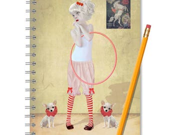Clown Girl Notebook - Chihuahua Journal - LINED OR BLANK pages, You Choose