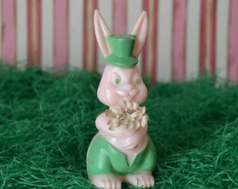 Vintage Easter Bunny Lollipop Holder Candy Container E. Rosen