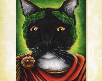 Julius Caesar Cat Shakespeare Literary Cats Fine Art Print 5x7
