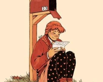 Postcard Print - Snail Mail Love