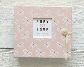 Blush Pink Bows | BABY BOOK