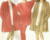 New Look 6460 UNCUT Swing Coat , Oversize Top, SKirt and Leggings Sewing Pattern - Sizes 8-18