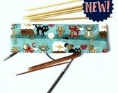 Cats and Yarn - DPN & Circular Needle Holder
