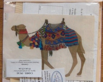 Roseworks embroidery designs kit Camel designs on fabric/detailed instructions.conversion chart (Threadds NOT included in kit) NIP