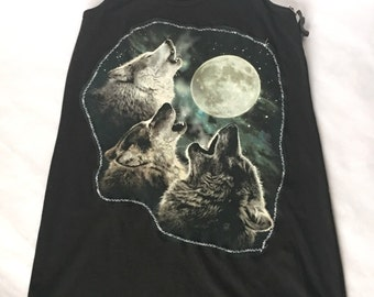 Howling Wolves Racerback Tank Dress