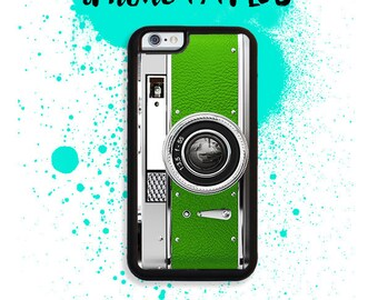 iPhone 7 or 7 PLUS Green Vintage Style Camera Phone Case