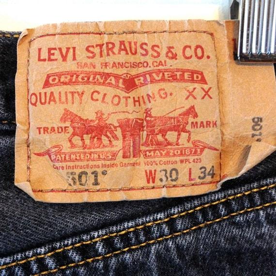 Vintage LEVIS 501s, Black 501 Jeans, Button Fly Levis, Mid Rise Levis, 90s black Levis, Womens black Jeans, Boyfriend jeans, 29 to 30 x 31