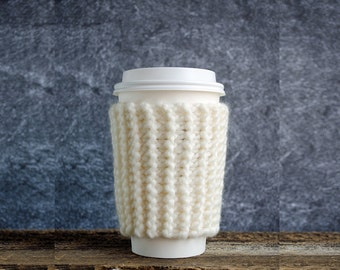 Coffee Cozy, Gifts For Mom, Knit Coffee Sleeve, Cup Cozy, Coffee Mug Cozy, Coffee Cup Cozy, Coffee Cup Sleeve, Graduation Gift, Coffee Mug