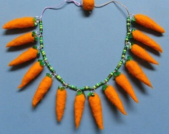 Felted Carrot Necklace Kit