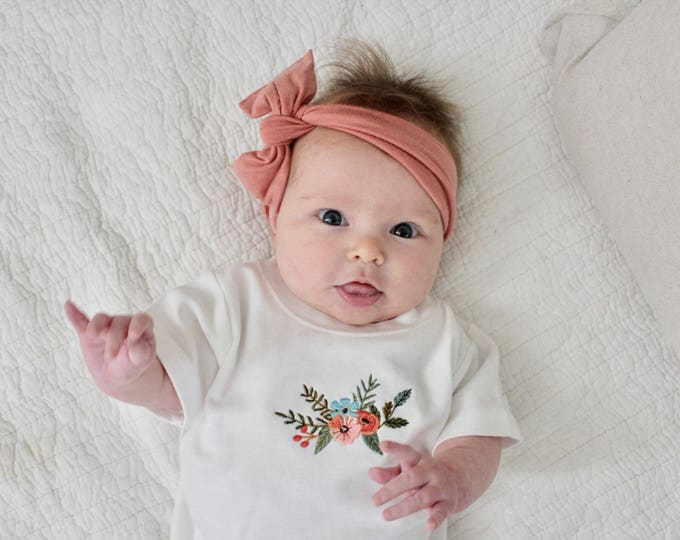 Featured listing image: The Eleanor Shirt | Baby Girl Floral Infant Shirt