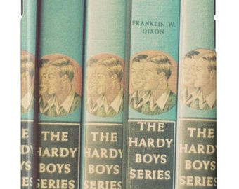 iPhone Case Vintage Hardy Boys Books Mid Century Modern Robins Egg Blue
